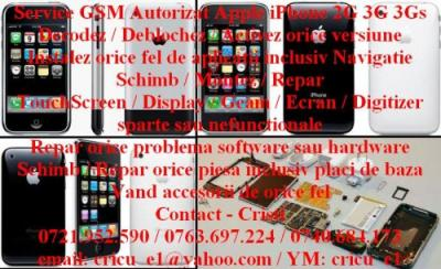 Touchscreen display iphone 3g 3gs 2g montaj pe loc