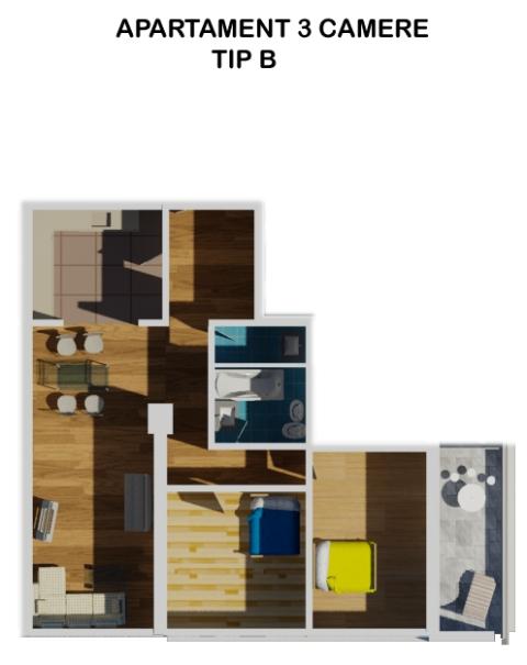 Apartament 3trei camere de vanzare Bucuresti